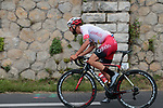 4 man early breakaway including Loic Chetout (FRA) Cofidis Solutions Credits winning the mountains jersey during Stage 1 of the Route d'Occitanie 2019, running 175.5km from Gignac-Vallée de l'Hérault to Saint-Geniez-d'Olt-et-d'Aubrac , France. 20th June 2019<br /> Picture: Colin Flockton | Cyclefile<br /> All photos usage must carry mandatory copyright credit (© Cyclefile | Colin Flockton)