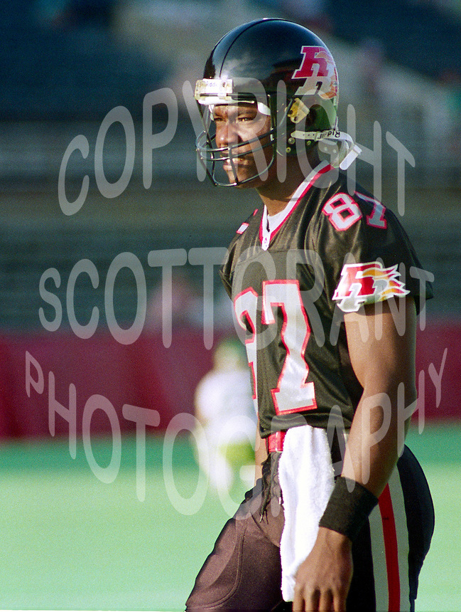 Tyrone Shavers Ottawa Rough Riders 1993. Photo John Bradley