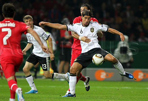 08.10.2010 Germany got third straight Euro 2012 qualifying win with a 3-0 win at Berlins Olympiastadion.