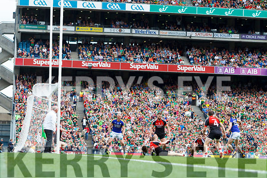 Paul Geaney Kerry has a shot on goal against Mayo blocked by David Clarke in the All Ireland Semi Final Replay in Croke Park on Saturday.