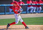 28 February 2016: Washington Nationals infielder Brendan Ryan in action during an inter-squad pre-season Spring Training game at Space Coast Stadium in Viera, Florida. Mandatory Credit: Ed Wolfstein Photo *** RAW (NEF) Image File Available ***