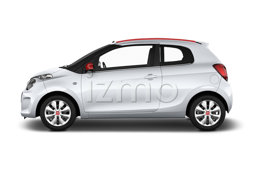 Car Driver side profile view of a 2015 Citroen C1 Airscape-Feel-Edition 3 Door Micro Car Side View