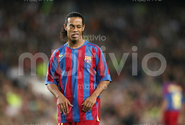 FUSSBALL Champions League 2005/2006 Halbfinal Rueckspiel FC Barcelona 0-0 AC Mailand  Ronaldinho (FC B)