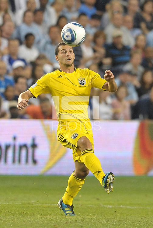 Columbus Crew midfielder Dilly Duka in action... Sporting Kansas City defeated Columbus Crew 2-1 at LIVESTRONG Sporting Park, Kansas City, Kansas.