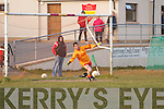 Valentia keeper Richard Quigley unable to stop this penalty taken by Fossa's Lorcan Daly.  Valentia 1-8 Fossa 2-10.