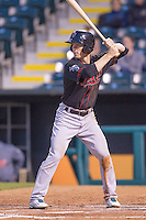 Nashville Sounds second baseman Joey Wendle (13) at bat against the Oklahoma City Dodgers at Chickasaw Bricktown Ballpark on April 15, 2015 in Oklahoma City, Oklahoma. Oklahoma City won 6-5. (William Purnell/Four Seam Images)