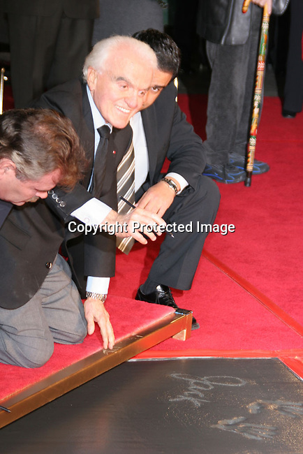 Grauman&rsquo;s Chinese Theater Handprint and Footprint Ceremony honoring Jack Valenti<br />