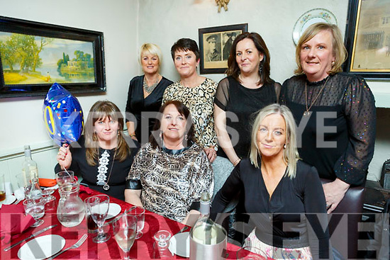 Hannah Vaughan from Ballydesmond orginally Ballyheigue celebrating her 50th birthday in Cassidys on Saturday night. <br /> Seated l to r: Hannah Vaughan, Diane Flaherty and Norma Dunne.<br /> Back l to r: Philly Dunne, Kitty O'Halloran, Ann Paula Stack and Kathleen O'Carroll.