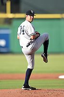 Tampa Yankees pitcher Conner Kendrick (34) delivers a pitch during a game against the Clearwater Threshers on June 26, 2014 at Bright House Field in Clearwater, Florida.  Clearwater defeated Tampa 4-3.  (Mike Janes/Four Seam Images)