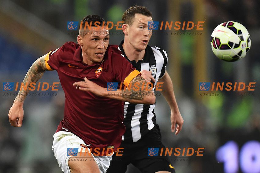 Jose Holebas Roma, Stephan Lichtsteiner Juventus <br /> Roma 02-03-2015 Stadio Olimpico Football Calcio Serie A AS Roma - Juventus. Foto Andrea Staccioli / Insidefoto