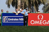 George Coetzee (RSA) tees off on the 9th tee during Sunday's Final Round of the 2012 Omega Dubai Desert Classic at Emirates Golf Club Majlis Course, Dubai, United Arab Emirates, 12th February 2012(Photo Eoin Clarke/www.golffile.ie)