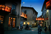 "Streets of Mendrisio are decorated in candle-lit canvas murals for an Easter Processional.<br /> In 1657, the town of Mendrisio started this ""Processioni Storiche Giovedi Venerdi Santo Mendrisio"" and they have been continuing the tradition for 207 years.  200 townspeople participate in the drama."