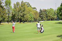 Kevin Na (USA) watches his approach shot on 4 during round 2 of the World Golf Championships, Mexico, Club De Golf Chapultepec, Mexico City, Mexico. 3/3/2017.<br /> Picture: Golffile | Ken Murray<br /> <br /> <br /> All photo usage must carry mandatory copyright credit (&copy; Golffile | Ken Murray)