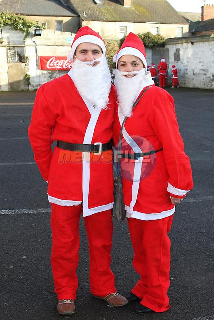 Edel and Shane Rock at the 2012 Christmas Bonanza Santa Run...Photo NEWSFILE/Jenny Matthews..(Photo credit should read Jenny Matthews/NEWSFILE)