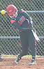 AlexaMarie Sassi #11 of Plainedge puts a ball in play in the bottom of the second inning of a Nassau County varsity softball game against Seaford at Schwarting Elementary School in Massapequa on Friday, April 6, 2018.
