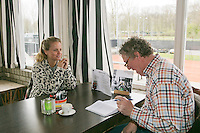 Rotterdam, The Netherlands. 26.03.2014. Fatima Moreira de Melo being interviews bij Jon Visbeen<br /> Photo:Tennisimages/Henk Koster