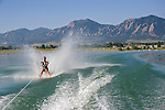 Senior citizen barefoot waterskiing, Boulder Reservoir, Colorado, John offers private photo tours of Boulder, Denver and Rocky Mountain National Park. .  John leads private photo tours in Boulder and throughout Colorado. Year-round. .  John offers private photo tours in Denver, Boulder and throughout Colorado. Year-round.