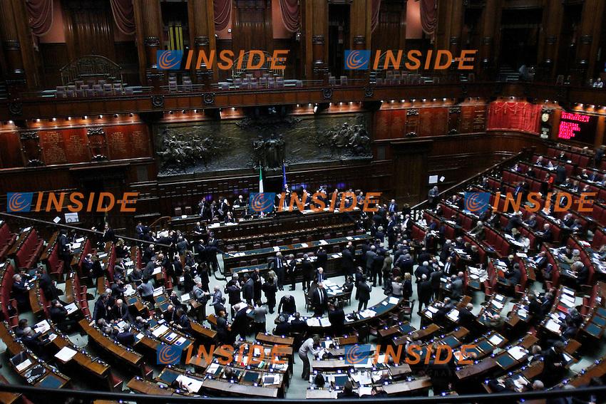 Una panoramica dell'aula durante il voto.Roma 21/03/2012 Camera dei Deputati, Voto di fiducia sul decreto legge in materia di liberalizzazioni.Foto Serena Cremaschi Insidefoto