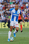 CD Leganes's Martin Braithwaite during La Liga match between CD Leganes and Atletico de Madrid at Butarque Stadium in Madrid, Spain. August 25, 2019. (ALTERPHOTOS/A. Perez Meca)
