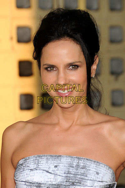 "Paola Turbay.HBO's ""True Blood"" Season Four Los Angeles Premiere held at The Cinerama Dome, Hollywood, California, USA, .21st June 2011..portrait headshot strapless white grey gray  smiling.CAP/ADM/BP.©Byron Purvis/AdMedia/Capital Pictures."