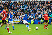 Sheffield Wednesday's forward Lucas Joao (18) shoots during the Sky Bet Championship match between Sheff Wednesday and Barnsley at Hillsborough, Sheffield, England on 28 October 2017. Photo by Stephen Buckley / PRiME Media Images.