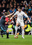 Cristiano Ronaldo (r) of Real Madrid fights for the ball with Asier Illarramendi Andonegi of Real Sociedad during their La Liga match between Real Madrid and Real Sociedad at the Santiago Bernabeu Stadium on 29 January 2017 in Madrid, Spain. Photo by Diego Gonzalez Souto / Power Sport Images
