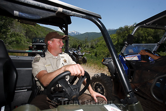 Trent Nelson  |  The Salt Lake Tribune.Ranger Drew Patterson patrols Wasatch Mountain State Park in Midway, Utah on Saturday, July 2, 2011