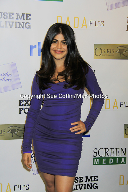 "One Life To Live Shenaz Treasury (in film) and at the premiere of ""Excuse Me For Living"" on October 12, 2012 at AMC Loews Village 7, New York City, New York.  (Photo by Sue Coflin/Max Photos)"