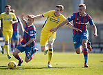 Inverness Caley v St Johnstone&hellip;08.04.17     SPFL    Tulloch Stadium<br />Blair Alston battles with Carl Tremarco and Louis Laing<br />Picture by Graeme Hart.<br />Copyright Perthshire Picture Agency<br />Tel: 01738 623350  Mobile: 07990 594431