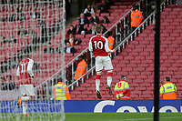Emile Smith Rowe celebrates scoring Arsenal's fourth goal from the penalty spot during Arsenal Youth vs Blackpool Youth, FA Youth Cup Football at the Emirates Stadium on 16th April 2018