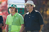 11/30/11 Thousand Oaks, CA: Rickie Fowler and George Lopez  during the Pro-AM round at the Chevron World Challenge held at the Sherwood Country Club.