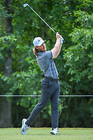 Tommy Fleetwood (ENG) watches his tee shot on 14 during Round 3 of the Zurich Classic of New Orl, TPC Louisiana, Avondale, Louisiana, USA. 4/28/2018.<br /> Picture: Golffile | Ken Murray<br /> <br /> <br /> All photo usage must carry mandatory copyright credit (&copy; Golffile | Ken Murray)