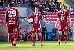 S&ouml;dert&auml;lje 2015-08-01 Fotboll Superettan Assyriska FF - &Ouml;stersunds FK :  <br /> &Ouml;stersunds Jamie Hopcutt sl&aring;r ut med armarna bredvid Dragan Kapcevic och Michael Omoh under matchen mellan Assyriska FF och &Ouml;stersunds FK <br /> (Foto: Kenta J&ouml;nsson) Nyckelord:  Assyriska AFF S&ouml;dert&auml;lje Fotbollsarena Superettan &Ouml;stersund &Ouml;FK depp besviken besvikelse sorg ledsen deppig nedst&auml;md uppgiven sad disappointment disappointed dejected