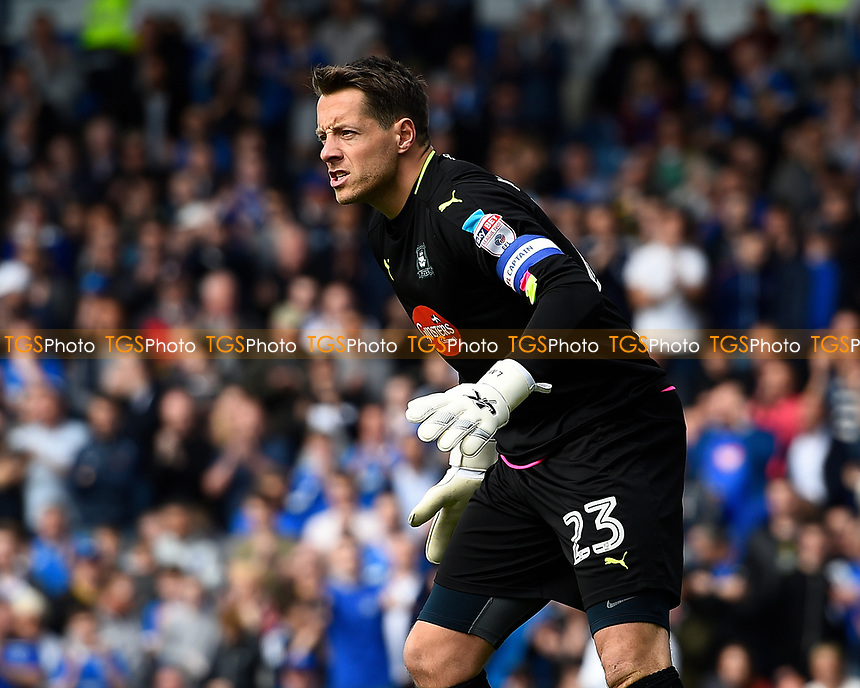 Luke McCormick of Plymouth Argyle during Portsmouth vs Plymouth Argyle, Sky Bet EFL League 2 Football at Fratton Park on 14th April 2017