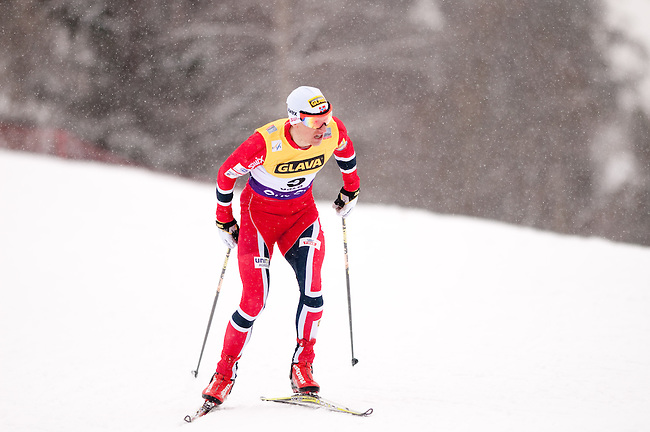 HOLMENKOLLEN, OSLO, NORWAY - March 15: Haavard Klemetsen of Norway (NOR) during the cross country 10 km (4 x 2.5 km) competition at the FIS Nordic Combined World Cup on March 15, 2013 in Oslo, Norway. (Photo by Dirk Markgraf)