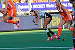 The Hague, Netherlands, June 12: Luciana Aymar #8 of Argentina shoots the ball during the field hockey semi-final match (Women) between The Netherlands and Argentina on June 12, 2014 during the World Cup 2014 at Kyocera Stadium in The Hague, Netherlands. Final score 4-0 (3-0)  (Photo by Dirk Markgraf / www.265-images.com) *** Local caption ***
