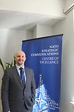 Direktor Janis Sarts  in dem Gebäude der Nato-Denkfabrik StratCom in Riga