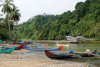 Fishing village, S. Sumatra, Indonesia