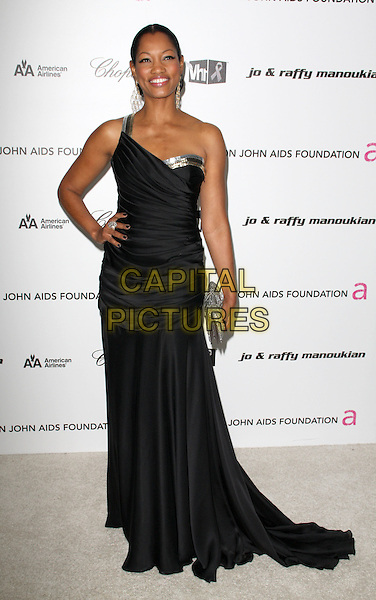 GARCELLE BEAUVAIS NILON .17th Annual Elton John AIDS Foundation Academy Award Viewing Party held at the Pacific Design Center, West Hollywood, California, USA..February 22nd, 2009.oscars full length black one shoulder dress silver clutch bag .CAP/ADM/KB.©Kevan Brooks/AdMedia/Capital Pictures.
