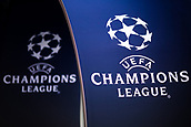 12th September 2017, Camp Nou, Barcelona, Spain; UEFA Champions League Group stage, FC Barcelona versus Juventus; Champions League logo hours before the start of the first European match of the season