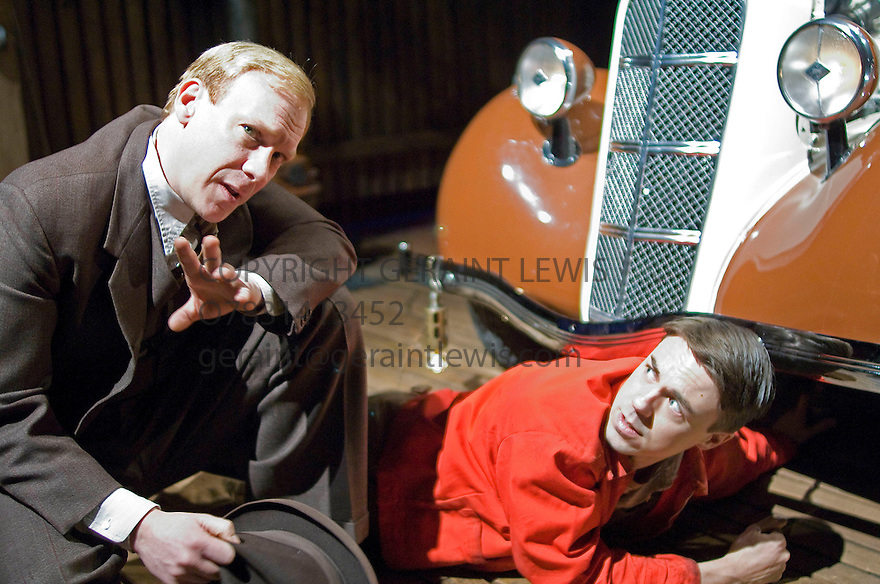 The Man Who Had All The Luck by Arthur Miller,directed by Sean Holmes. With Shaun Dingwall as Gus Eberson,Andrew Buchan as David Beeves  . Opens at The Donmar Warehouse on 5/3/08. CREDIT Geraint Lewis