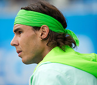 Rafael Nadal (ESP) against Marcos Daniel (BRA) in the second round of the men's singles. Rafael Nadal beat Marcos Daniel 6-2 6-2..Tennis - ATP World Tour - AEGON Championships - Queen's Club - London - Day 3 - Wed 09 Jun 2010..© AMN Images - Level 1, Barry House, 20-22 Worple Road, London, SW19 4DH.Tel - +44 (0) 208 947 0100.email - mfrey@advantagemedianet.com. www.photoshelter.com/c/amnimages.