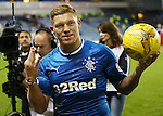 Martyn Waghorn with the matchball after scoring his hat-trick