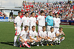 12 July 2007: Poland's starters. Argentina's Under-20 Men's National Team defeated Poland's Under-20 Men's National Team 3-1 in a  round of 16 match at the National Soccer Stadium (also known as BMO Field) in Toronto, Ontario, Canada during the FIFA U-20 World Cup Canada 2007 tournament.