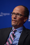 October 24, 2013  (Washington, DC)  Tom Perez, U.S. Secretary of Labor, during a panel discussion at the 10th anniversary policy conference of the Center for American Progress held at the St. Regis hotel in Washington, D.C.  (Photo by Don Baxter/Media Images International)