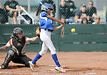 Basic Wolves' Alyssa Ferguson hits against the Douglas Tigers during the NIAA 4A softball tournament, in Reno, Nev., on Thursday, May 17, 2018. Douglas won 8-5. Cathleen Allison/Las Vegas Review-Journal