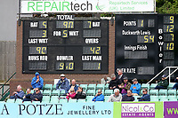The scoreboard shows that Essex have been reduced to 90 for 5 during Worcestershire CCC vs Essex CCC, Specsavers County Championship Division 1 Cricket at Blackfinch New Road on 11th May 2018
