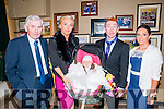 Baby Ella with her parents Saorcha Fitzgerald & Eoin McCarthy, godparents John Tierney & Charlotte Quinn and sister Clodagh who was christened in Athea Church by Fr. Bowen on Sunday last and afterwards at The KIngdom Bar, Listowel.