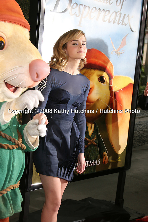 """Emma Watson arriving at the World Premiere of """"The Tale of Despereaux"""" at the Arclight Hollywood Theaters in Los Angeles, CA .December 7, 2008.©2008 Kathy Hutchins / Hutchins Photo....                ."""