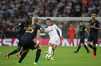 Dele Alli of Tottenham Hotspur plays a pass during the UEFA Champions League Group stage match between Tottenham Hotspur and Monaco at White Hart Lane, London, England on 14 September 2016. Photo by Andy Rowland.
